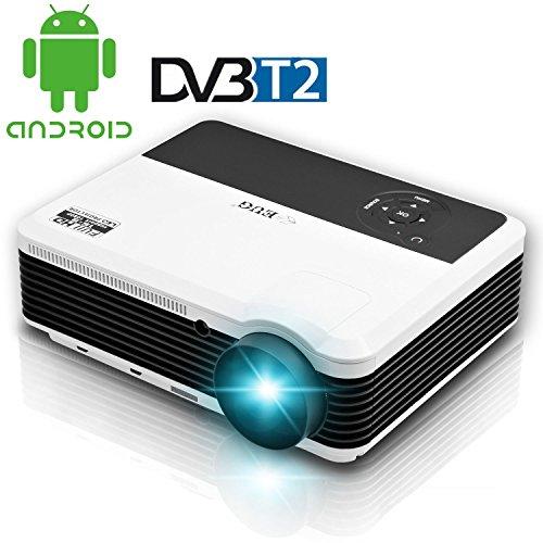 TV DIGITAL HD-T2Lampe LED WiFi Beamer Full HD DTV HDMI USB