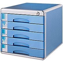 HRRH Escritorio Archivador, 5 Capa Cajón Mostrador Caja De Almacenaje, Ideal para Archivar Y