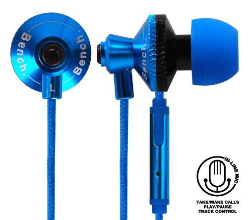 Beats Pink Blau Und (Bench Beat In-Ear Kopfhörer Ohrhörer mit Mikrofon - Blau)