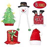 5 cappelli da festa - Ideali per accessori natalizi, divertenti per grandi e piccini, perfetti per costumi e feste in maschera