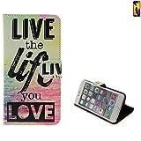 K-S-Trade Huawei P20 Lite Dual-SIM Schutz Hülle 360° Wallet Case ''live Life Love'' Schutzhülle Handy Tasche Handyhülle Etui Smartphone Flip Cover Standfunktion (1x)