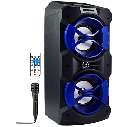 Altavoz Karaoke con Micrófono Bluetooth Portátil Inlámbrico USB Tarjeta TF Recargable con...
