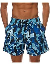 Minetom Hombre Bañadores De Natación Pantalones Cortos Bermudas Shorts  Verano Sport Moda Surf Calzoncillos Trajes De bdf50ac70fd