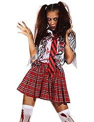 Zombie Horror Blutige Krankenschwester Braut Gefangene Halloweenkostuem KARNEVAL FASCHING HALLOWEEN