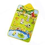 Poualss Musik Sound Farm Animal Kids Baby Spielmatte Teppich Gym Spielzeug 23,62 x 15,75 Zoll