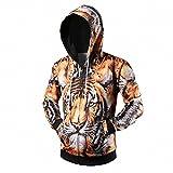 Fashion hoodies 3D animale Tigre Stampa camicia Uomini Donne Haraju Streetwear Felpa casual Sudaderas tuta Vestiti di marca L08 M