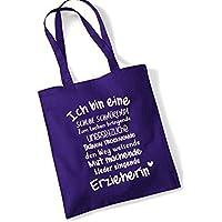 Baumwollbeutel für Erzieherinnen lila