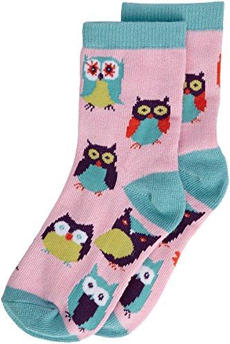 Hatley Mädchen Animal Crew Socken, (Party Owls), (Herstellergröße: Small) -