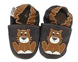 HOBEA-Germany Krabbelschuhe in verschiedenen Farben und Designs mit Tieren, Modell Schuhe:Löwe Leo, Schuhgröße:24/25 (24-30 Monate)