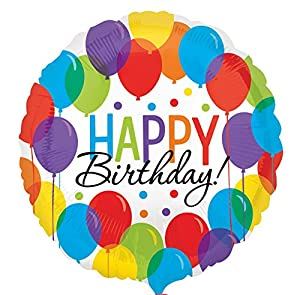 Amscan-3211201Bash feliz cumpleaños Foil Globos