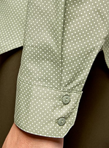 oodji Ultra Donna Camicia Basic con Tasche sul Petto Verde (6612D)