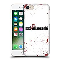 Officiel AMC The Walking Dead Sang Blanc Logo Étui Coque D'Arrière Rigide Pour Apple iPhone 7