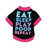 Hundebekleidung Rosennie T-Shirt aus Baumwolle Welpen-Kostüm für kleinen und Mittlere Hund Schwarz Kapuzenpullover T-Shirt Warme Pullover Hundemantel Ideale Schutz Winddicht Warm Outdoor Hundejacke Mantel (S, Schwarz)