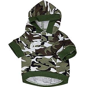 GDRAVEN - Sweat à capuche pour chien/animal domestique - Imprimé camouflage - Disponible en 5 tailles