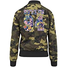 Styles 24 Flowers Bomber Giacca Girls Camuffare Certified Freak