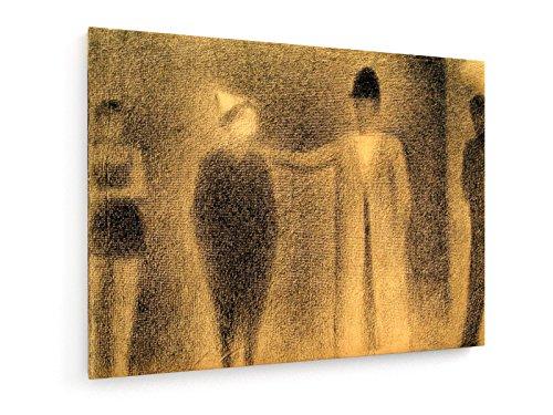 n und drei Figuren (Studie) - 40x30 cm - Textil-Leinwandbild auf Keilrahmen - Wand-Bild - Kunst, Gemälde, Foto, Bild auf Leinwand - Alte Meister / Museum (Männliche Zirkus Kostüm)