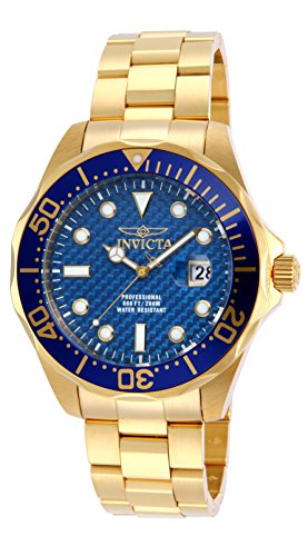Invicta 14357 Pro Diver Men's Wrist Watch Stainless Steel Quartz Blue Dial