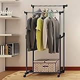 Nesaila Houseware - Perchero portátil para colgar ropa (doble)