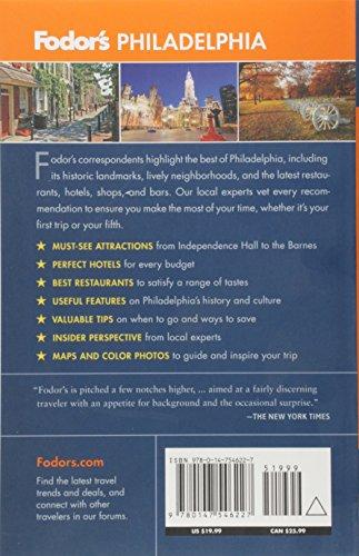 Fodor's Philadelphia (Fodors Guide) [Idioma Inglés]