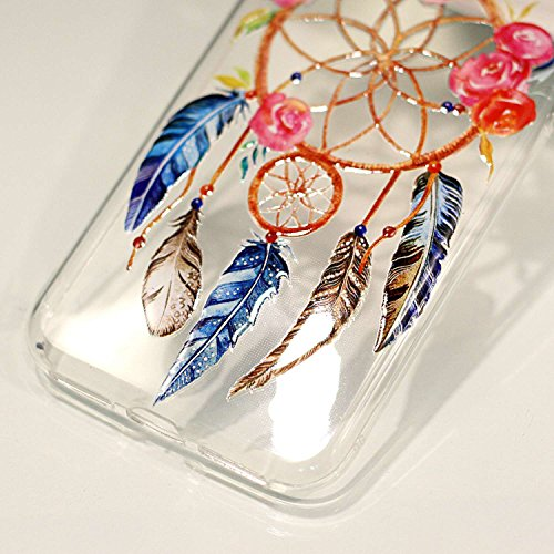 inShang iPhone X 5.8inch custodia cover del cellulare, Anti Slip, ultra sottile e leggero, custodia morbido realizzata in materiale del TPU, frosted shell , conveniente cell phone case per iPhone X 5. dream catcher