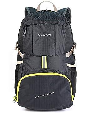 SymbolLife 35L Leichter Wasserdichte Faltbarer Rucksack für Männer oder Frauen Reiserucksack Tagesrucksack Handgepäck...