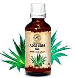 Aloe Vera Öl Reines 100% Naturreines 100 ml Glasflasche | Aloe Vera-Öl Basisöl - Aloe Barbadensis - Brasilien - Raffiniert - Intensive Pflege für Gesicht | Körper | Haare| Haut | Nägel | Hände | für Schönheit | Massage |Wellness | Kosmetik | Körperpflege von AROMATIKA