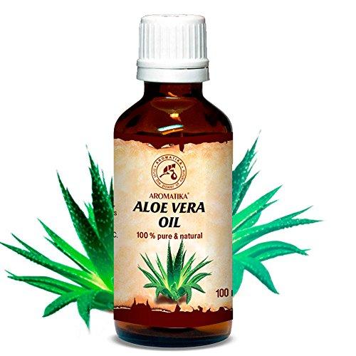 Huile d'Aloe Vera, pressée à froid et affiné, 100% naturel et pur 100 ml, Huile d'Aloe Vera,...