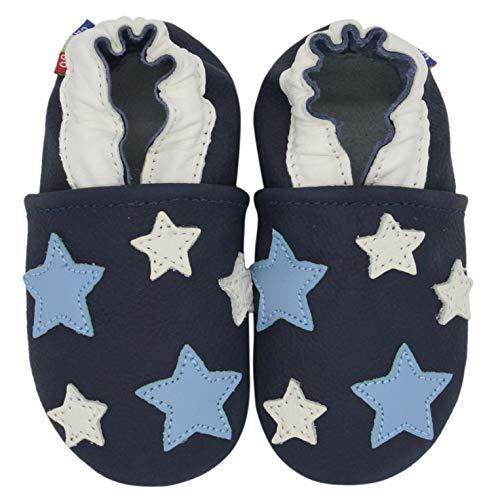 Carozoo Bleu de Cinq étoiles (Five Star Blue), Chaussures Bébé Semelle Souple Fille