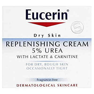 3 x Eucerin® Dry Skin Replenishing Cream 5% Urea with Lactate & Carnitine 75ml