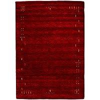 Morgenland Gabbeh Teppich 200 x 300 cm Handgearbeitet, Schurwolle, Rot, 200 x 300 x 1.8 cm