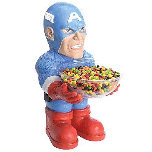 Rubie's Marvel Bonbonhalter Captain Amerika Figur mit Schale Karneval Fasching Deko