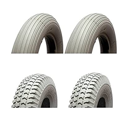 MOBILITY SCOOTER TYRES 300-4 260 x 85 - FULL SET (4) - MOBILITY SCOOTER PNEUMATIC TYRES