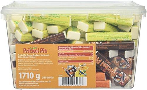 Prickel Pit Brause Bonbon Stangen Zitrone, Orange, Cola, 1er Pack (1 x 1.71 kg)