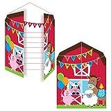 PARTY DISCOUNT NEU Einladung Farm Babys, 10x12 cm, 8 Stk