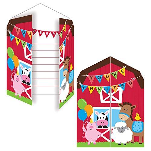 PARTY DISCOUNT NEU Einladung Farm Babys, 10x12 cm, -