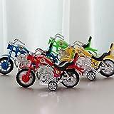 MAJGLGE Mini-Motorrad-Spielzeug, realistisches Modell, Tischdekoration, Kindergeburtstagsgeschenk, zufällige Farbe