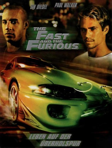 The Fast and the Furious Plakat Movie