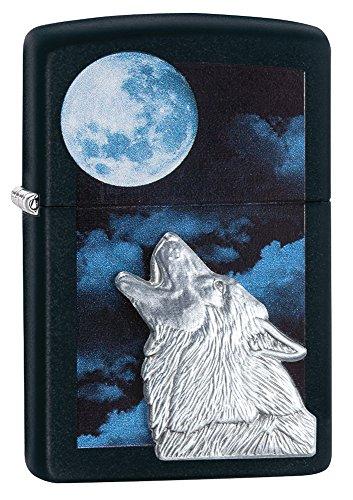 Zippo 60.000.471 Feuerzeug Howling Wolve, Spring 2015, schwarz matt
