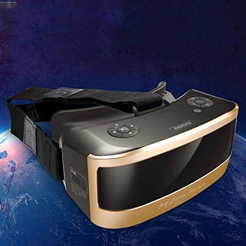 VR-one 3D Gafas de cine Realidad virtual Juego de casco Headset 1080P CPU de ocho núcleos Sharp HD Panorámica de pantalla ( Color : Oro )
