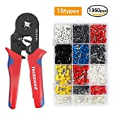 Teckmond Pinze Crimpatrice Crimping Tool Con Ratchet-Action per Terminale Isolato 0.25-10 mm² con 1350 Pcs Connettori per Cavi