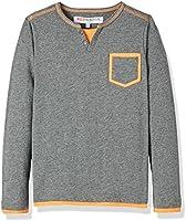 RED WAGONGrandad T-Shirt a Maniche LungheBambino, Grigio (Charcoal/Orange), 128 (Taglia Produttore: 8 Anni)