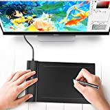OSU!Drawing Tablet VEIKK S640 Ultra-thin 6x4 Inch Digital Drawing Pen Tablet with 8192 Levels Passive Pen