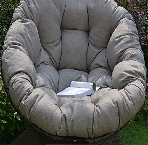 Runde Hängende Sitzkissen Für Hängematten, Fluffy Baumwolle Wicker Hängende Ei Stuhlkissen Pad Terrasse Jardin Indoor-grau 100x100cm(39x39inch) -