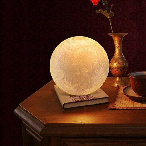 confronta il prezzo Lampada Luna 3D Stampata, ALED LIGHT Piena Lampada Moon Luna con Diametro di 15cm/5,9pollici e 3 Colori, Ricarica USB Decorativo LED Luce Notturna Toccare il Controllo, Decoro per la Stanza da Letto Mood Light per Camera da Letto Cafe miglior prezzo