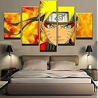 FFFZDCKAY sur Toile Tableaux 5 Parties 5 Pcs Naruto Personnages De Bande Dessinée Image Toile Peinture Mur Art Prints…