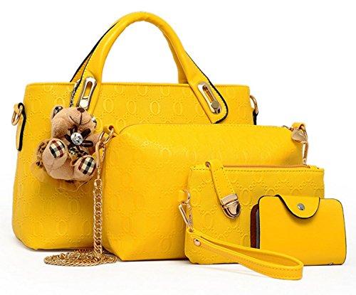 Yiyida, Borsa a mano donna beige Beige Yellow