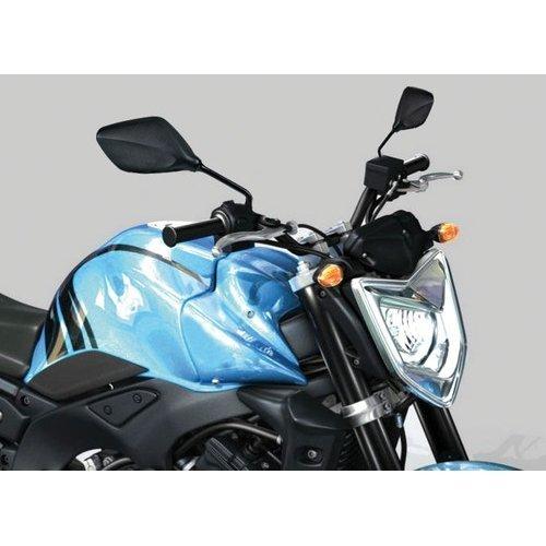 Blister con 2 Espejos retrovisores para Moto homologados, Space, Rosca 10 mm,...