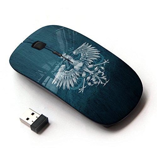 KawaiiMouse [ Mouse Senza Fili Ottico 2.4G ] Royal Eagle Crest