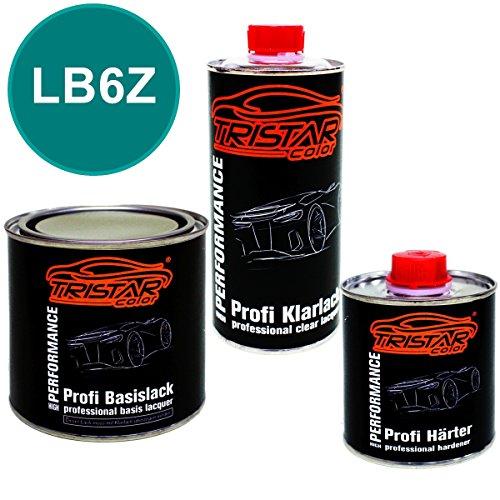 Preisvergleich Produktbild 1,25 Liter 2K Lack Set VW / VOLKSWAGEN / KARMANN LB6Z MONTANAGRUEN M. / MONTANA M. 1989 - 1994 - Profi Autolack spritzfertig & Klarlack & Härter