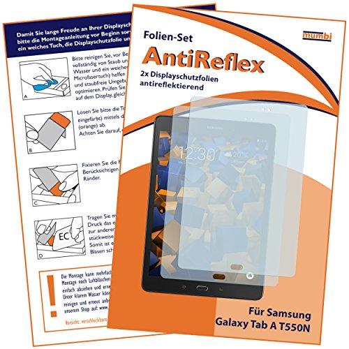 mumbi Schutzfolie kompatibel mit Samsung Galaxy Tab A 9.7 Zoll Wi-Fi Folie matt, Bildschirmschutzfolie (2x)